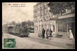 FRANCE, Melun, Arrivee Du Tramway à Vapeur De Barbizon, Animé (77) - Melun