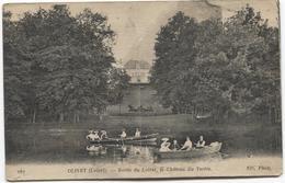 1919 Olivet - Bords Du Loiret - Le Chateau Du Tartre - ND 267 - Personnes Dans Bateaux - Kreuk In Midden - France