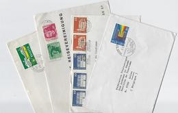 Suisse: 4 Lettres Pour La Belgique - Suisse