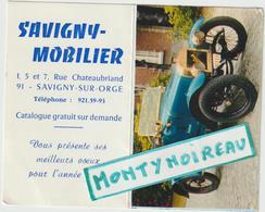 Vieux  Papier  : Calendrier :  1970 Savigny Sur  Orge , Voiture - Calendriers