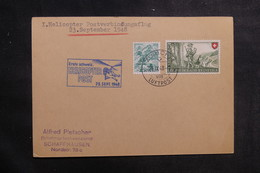 SUISSE - Enveloppe Par Hélicoptère En 1948, Affranchissement Plaisant - L 39850 - Postmark Collection