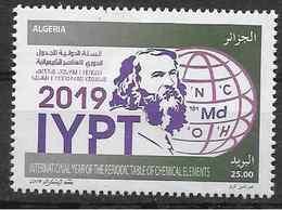 2019 ALGERIE 1836 ** Mendeleiev, Chimie - Algeria (1962-...)