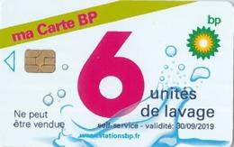 # Carte A Puce Portemonnaie Lavage BP Ma Carte BP 6u Puce1? Validité 30/09/2019 Ne Peut être Vendue -tres Bon Etat- - Frankrijk