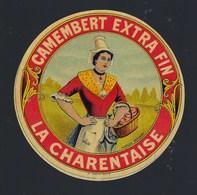 Etiquette Fromage Petit Camembert Extra Fin  La Charentaise Marque Déposée - Kaas