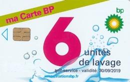 # Carte A Puce Portemonnaie Lavage BP Ma Carte BP 6u Puce1? Validité 30/09/2019 Ne Peut être Vendue Gratté Tres Bon Etat - Frankrijk