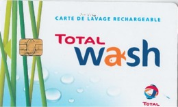 # Carte A Puce Portemonnaie Lavage Total - Plante Et Gouttes - Carte De Lavage Rechargeable - 770 Stations - TBE - Frankrijk