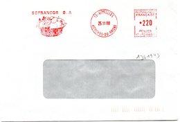 BOUCHES Du RHONE - Dépt N° 13 = VITROLLES 1988 = FLAMME ROUGE = EMA Illustrée D'un Panier De FRUITS ' SOFRANCOR ' - Marcofilia (sobres)