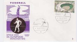 Germany Cover 1972 Olympic Games Munich - München Fussball (G97-56) - Summer 1972: Munich