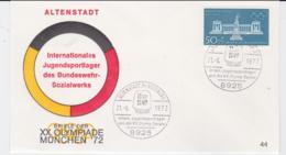 Germany Cover 1972 Olympic Games Munich - Altenstadt Intern Jugendsportlager Anl. Der XX. Olymp. Spiele - Summer 1972: Munich