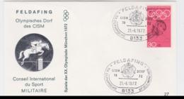 Germany Cover 1972 Olympic Games Munich - Feldafing CISM DORF (G97-56) - Summer 1972: Munich
