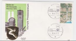 Germany Cover 1972 Olympic Games Munich - München Olympia Pressenzentrum  (G97-56) - Summer 1972: Munich