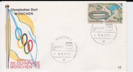 Germany Cover 1972 Olympic Games Munich - München Olympisches Dorf  (G97-56) - Summer 1972: Munich