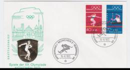 Germany Cover 1972 Olympic Games Munich - München FDC  (G97-56) - Summer 1972: Munich