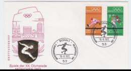 Germany Cover 1972 Olympic Games Munich - Bonn FDC  (G97-56) - Summer 1972: Munich