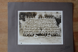 Photo Militaire Vers 1920  11  Eme Genie Compagnie  Avec Son Fanion 21/2 - Guerra, Militari