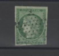France _  N° 2 ( 1849 ) _ 15c Vert Céres - 1849-1850 Cérès