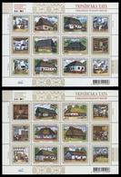 Ukraine 2007 - Mi-Nr. Block 63 & 64 ** - MNH - Historische Bauernhäuser - Ukraine