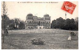 75 Paris - 14 ème - Observatoire Du Parc De Montsouris - Arrondissement: 14