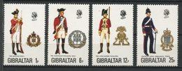 Gibraltar 1976 N° 338/341 ** Neufs MNH Superbes C 5 € Uniformes Militaires Infanterie Suffolk Lancashire Corps Royal - Gibraltar