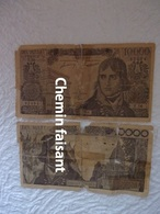 Lot De 2 Billets De 10000 F - Scans Recto-verso - 1871-1952 Gedurende De XXste In Omloop