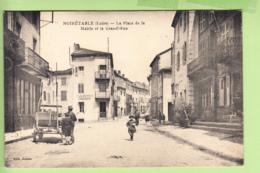 NOIRETABLE - Place De La Mairie Et Grande Rue - Etablissement Zanzibar - Vue Différente - Ed. Jousso - 2 Scans - Noiretable