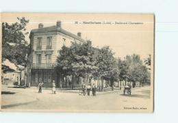 MONTBRISON - Boulevard Chavassieux Animé - Ed. Tabacs Badin -  2 Scans - Montbrison