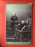 OUDE FOTO - VIEILLE PHOTO - 2 ENFANTS GARCONS - 2 JONGENS - W.F. Boelsums - Den Helder - Oud (voor 1900)