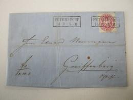 1867 , PETERSDORF  Klarer Stempel Auf Brief - Preussen