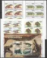 BB354 2011 BURUNDI DINOSAURS LES PREHISTORIQUES CROCODILES !!! 1KB+10SET MNH - Préhistoriques