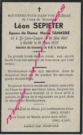 En 1935 Saint Jans Cappel (59)  Léon SEPIETER Ep Maria TANKERE - Décès