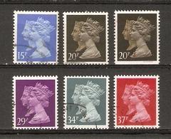 Grande-Bretagne 1990 - Elizabeth & Victoria - Série Complète° - 1434/38 + 1435a 20 P Non Dentelé En Bas - 1952-.... (Elizabeth II)