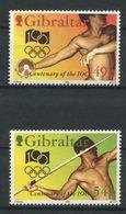 Gibraltar 1994 N° 709/710 ** Neufs MNH  TTB  C 5,50 € Sports CIO Comité Olympique Discobole Lanceur Javelot Games - Gibraltar
