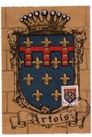 HERALDIQUE = 62 ARRAS 1952 = CARTE MAXIMUM  Illustrée D' ARMOIRIES + N° Yvt 899 ARTOIS - Maximum Cards