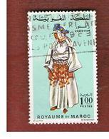 MAROCCO (MOROCCO)  -  SG 222 -   1968 LOCAL COSTUMES: ZEMMOUR WOMAN - USED ° - Marocco (1956-...)