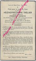 En 1947 Bailleul (59)  Et Ypres (B) Hélène THELLIER Ep Prosper CAREYE - Décès