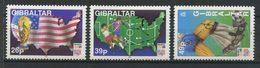 Gibraltar 1994 N° 696/698 ** Neufs MNH Superbes C 6 € Sports Coupe Monde Football Etats Unis J. Rimet Drapeaux Ca Rte - Gibraltar
