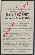 En 1930 Godewaersvelde Et Berthen  (59) Emile TASSAERT Ep Octavie SPETEBROOT Né En 1850 - Décès