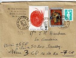 TP  N° 2833, 2835 Et 2618 Sur Enveloppe De Alençon - Marcophilie (Lettres)