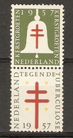 Erinnophilie - Pays-Bas 1957 - Kerst Groeten Tegen Tuberculose - Paire MNH Se Tenant - Erinnophilie