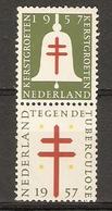 Erinnophilie - Pays-Bas 1957 - Kerst Groeten Tegen Tuberculose - Paire MNH Se Tenant - Erinnofilie