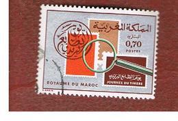 MAROCCO (MOROCCO)  -  SG 399  -   1974  STAMP DAY   - USED ° - Marocco (1956-...)
