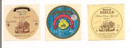 3 Etiquettes  Mignonnettes 5 Cl RHUM  Bielle  2007,  59% Médaille Or 2011 Et Hors D'age - GUADELOUPE - Marie Galante - - Rhum