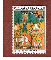 MAROCCO (MOROCCO)  -  SG 424  -   1975 CHILDREN' S WEEK   - USED ° - Marocco (1956-...)