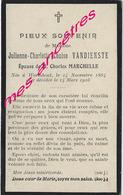 En 1916 Wormhout (59) Julienne VANDIENSTE Ep Charles MARCHELLE Née 1864 - Décès