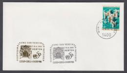 UNO Wien-UN Vienna - Beleg 1995 - MiNr. 5 - Gold-Sonderstempel - Rhein-Ruhr-Posta 95, Herten - UNO