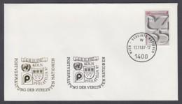 UNO Wien-UN Vienna - Beleg 1987 - MiNr. 12 A - Gold-Sonderstempel - Philatella 87, Köln - UNO
