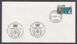 UNO Wien-UN Vienna - Beleg 1987 - MiNr. 14 - Gold-Sonderstempel - Koblenz 87 - UNO
