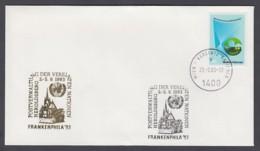 UNO Wien-UN Vienna - Beleg 1993 - MiNr. 27 - Gold-Sonderstempel - Frankenphila 93, Heroldsberg - UNO