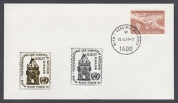 UNO Wien-UN Vienna - Beleg 1991 - MiNr. 33 - Gold-Sonderstempel - Rhein-Ruhr-Posta 91, Soest - UNO