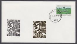 UNO Wien-UN Vienna - Beleg 1986 - MiNr. 41 - Gold-Sonderstempel - Frieden - UNO